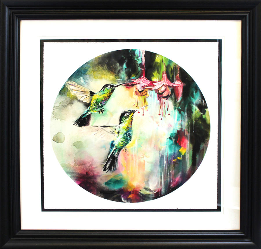 Glimmer Framed Art Print by artist Katy Jade Dobson