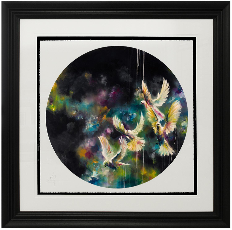Dusk (Doves) Framed Art Print Katy Jade Dobson