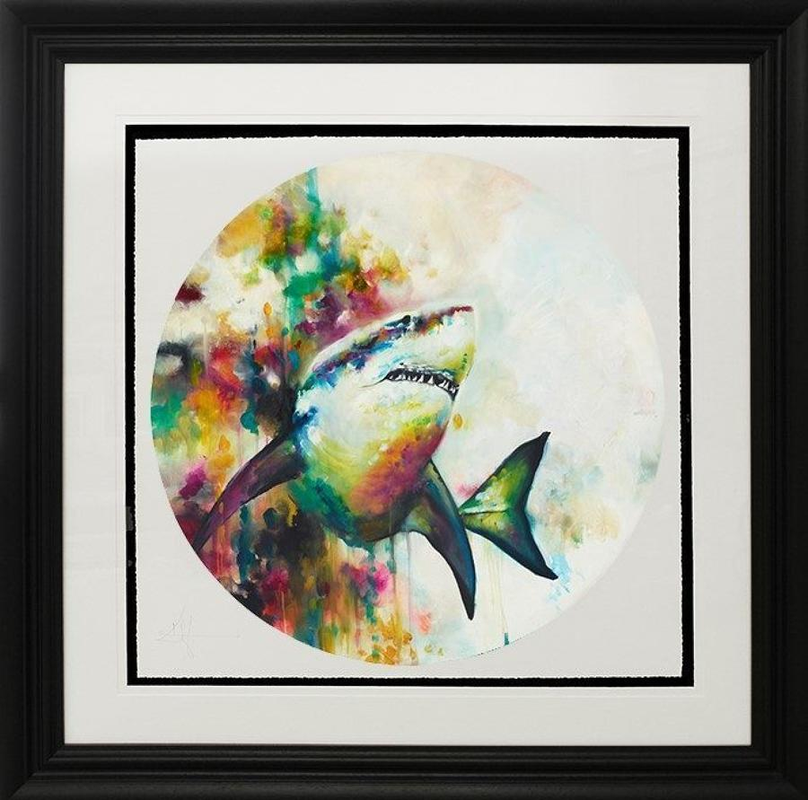 Jaws Framed Art Print Katy Jade Dobson