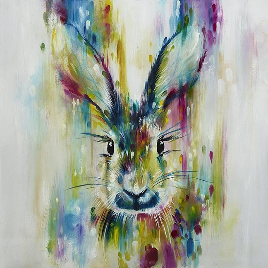 Hare Escape Framed Art Print Katy Jade Dobson