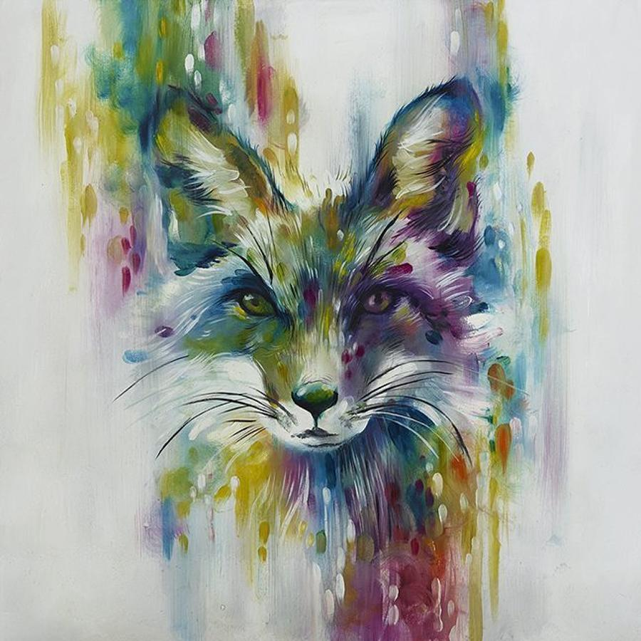Fox Chase Framed Art Print Katy Jade Dobson