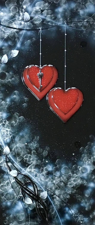 Love Is The Key Silver framed art by Kealey Farmer