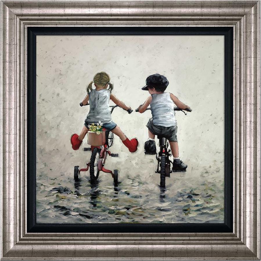 Thrills and Spills Framed Art Print Keith Proctor