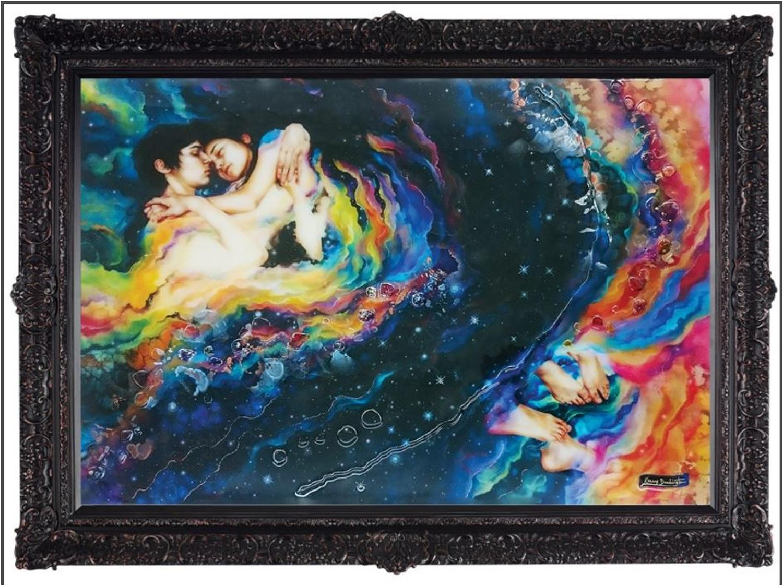 Romeo & Juliette framed art print by Kerry Darlington