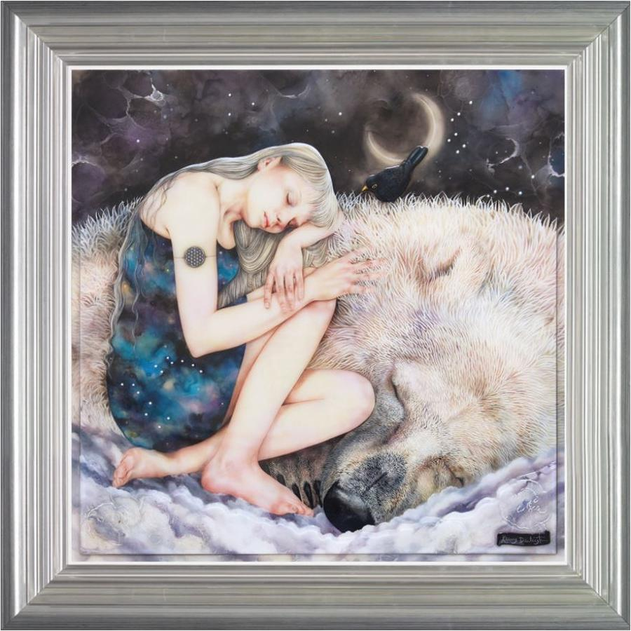 Snow Queen framed art print by Kerry Darlington