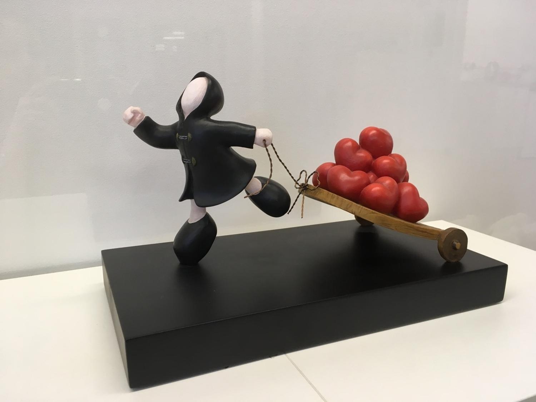 The Bringer Of Love Sculpture by Mackenzie Thorpe