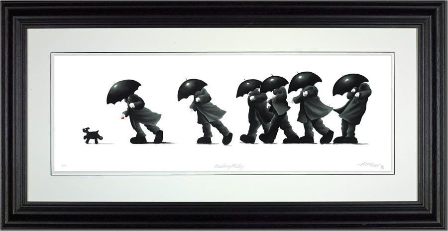 Walking the Dog  Framed Art Print Mackenzie Thorpe