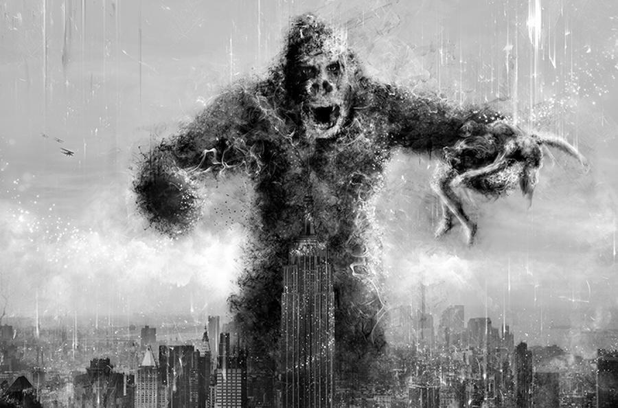 Mark Davies Kong (King Kong) Framed Art Print