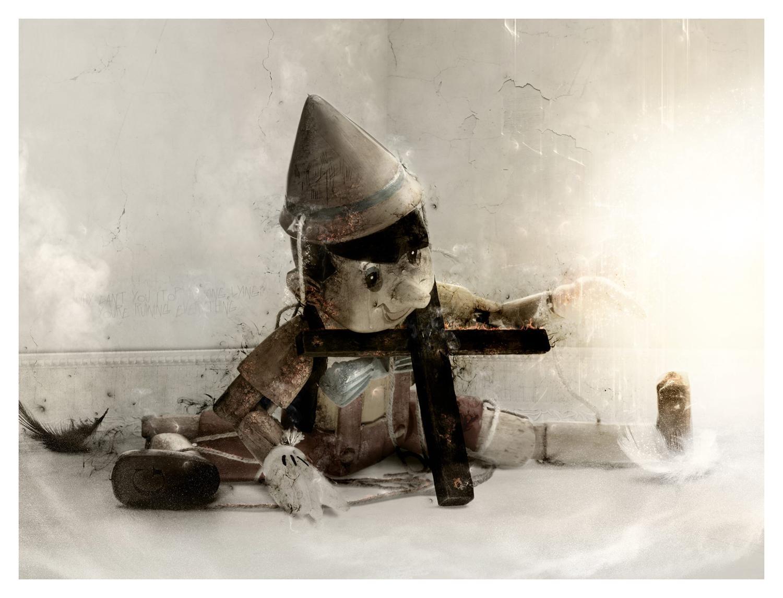 Mark Davies - Born To Lie Pinocchio Framed Art Print