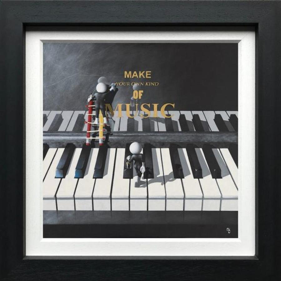 Make Your Own Kind Of Music - Framed Canvas Art Print By Mark Grieves