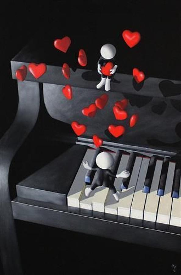 Our Love Song By Mark Grieves Framed Paper Edition