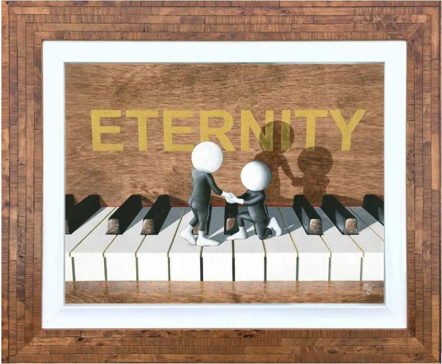 Eternity Framed Art Print by Mark Grieves