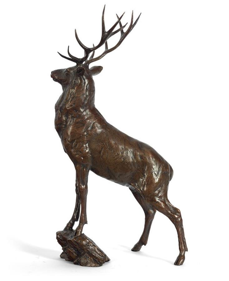 Monarch Bronze Stag by artist Michael Simpson