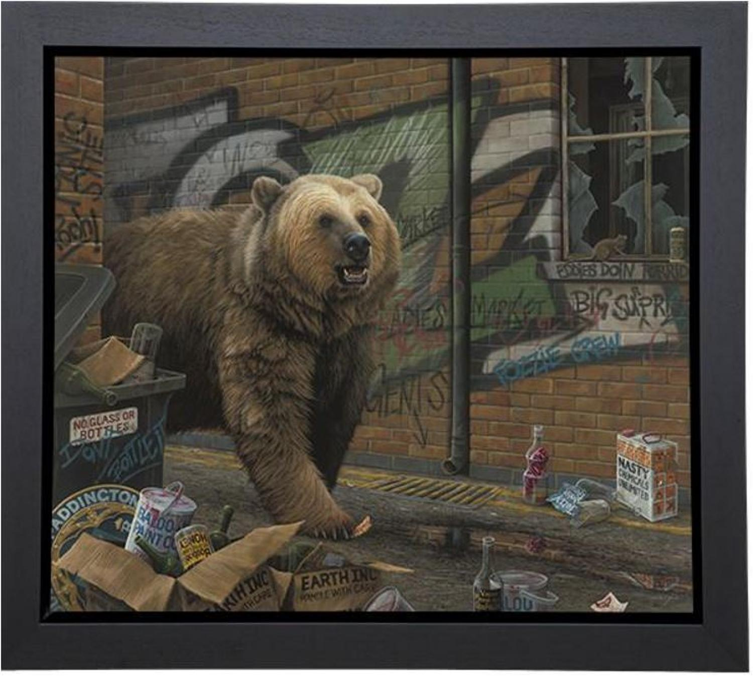Grizzly by Paul James Box Canvas Edition