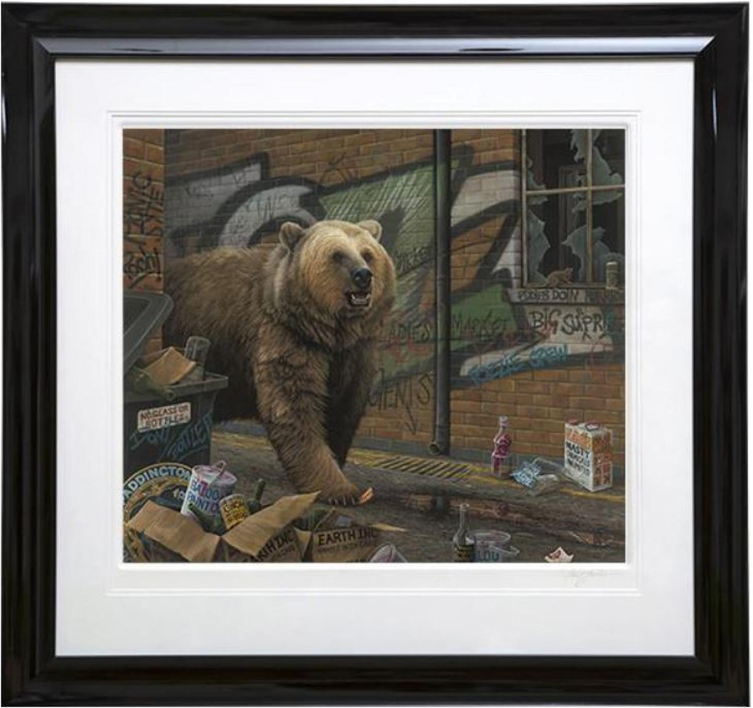 Grizzly by Paul James Framed Paper Edition