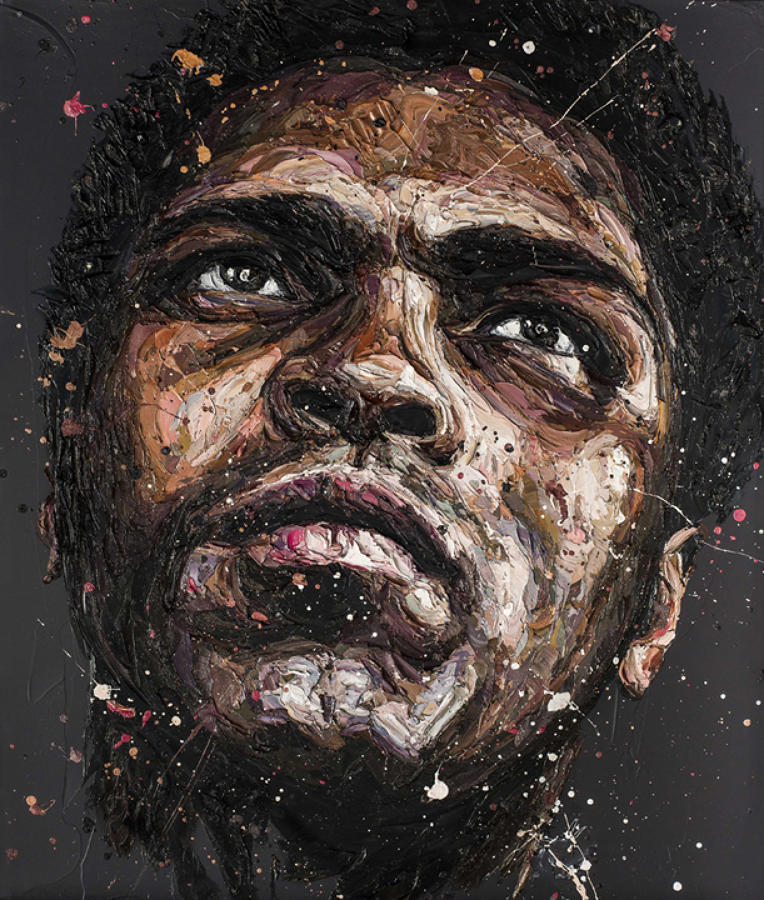 The Astronaut-Muhammad Ali framed canvas art print Paul Oz