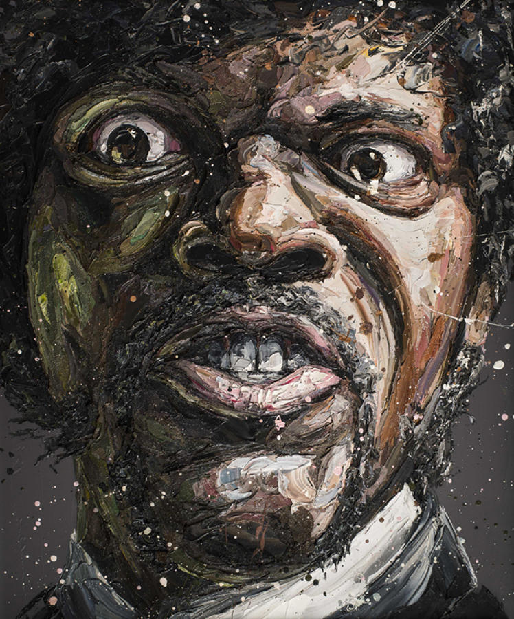 Say What? -Samuel L Jackson framed art print Paul Oz