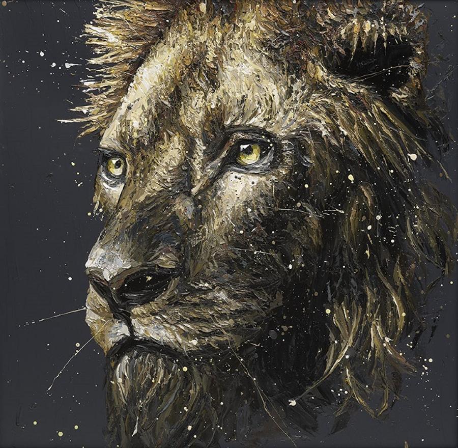 Clint the Lion framed art print by Paul Oz