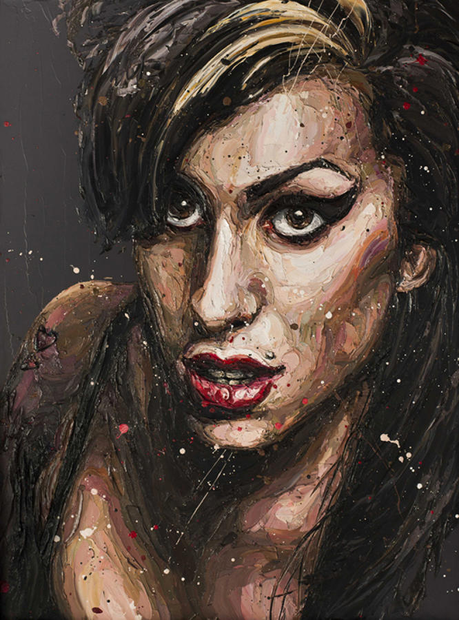 Daddy' Girl- Amy Winehouse framed canvas art print Paul Oz