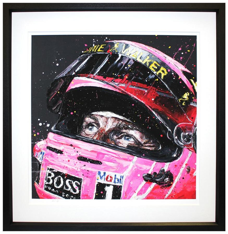 Pink For Papa Framed Canvas Art Print By Paul Oz