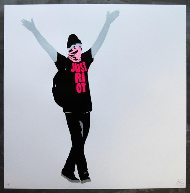 Just Riot - Art Print Flouro Pink By Artist Pure Evil