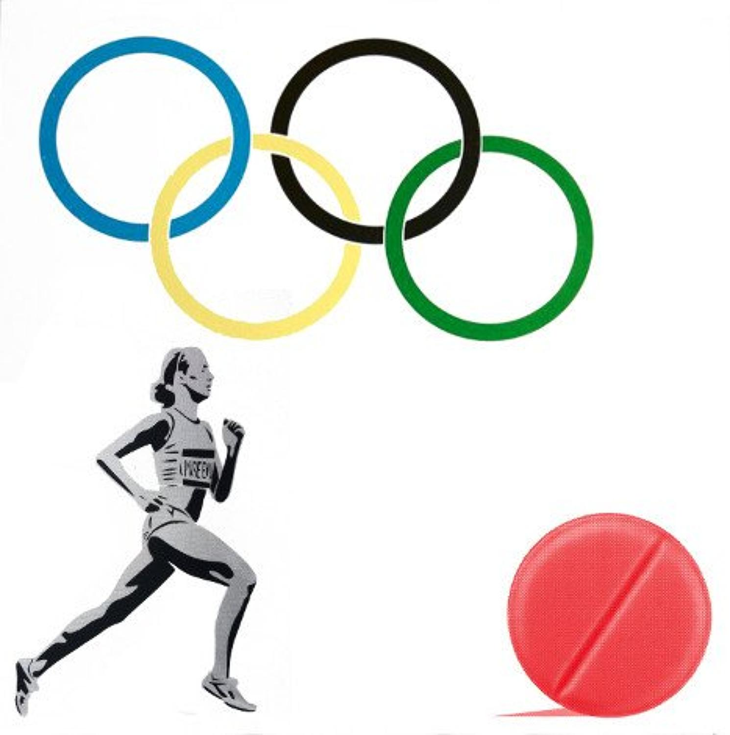 New Logo For The Olympic Doping Team art print by Pure Evil