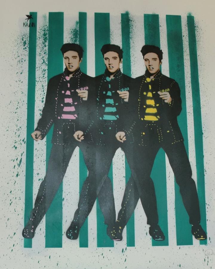 Elvis-art print by street artist Pegasus