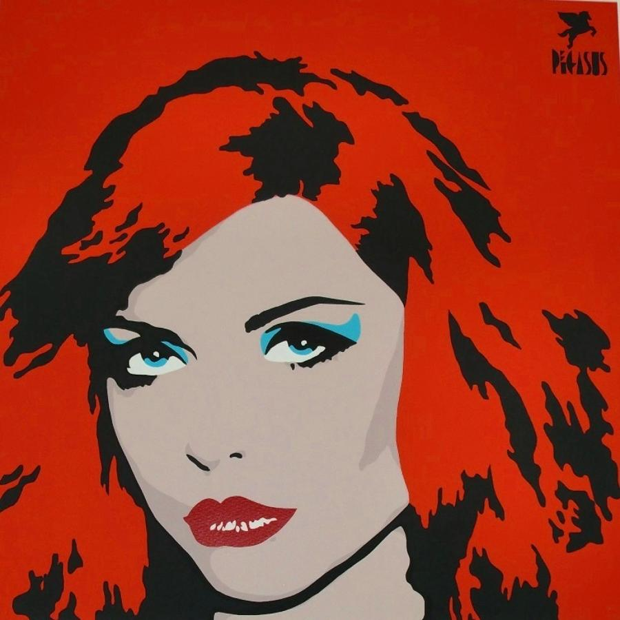 Blondie-Red art print (Debbie Harry) by street artist Pegasus