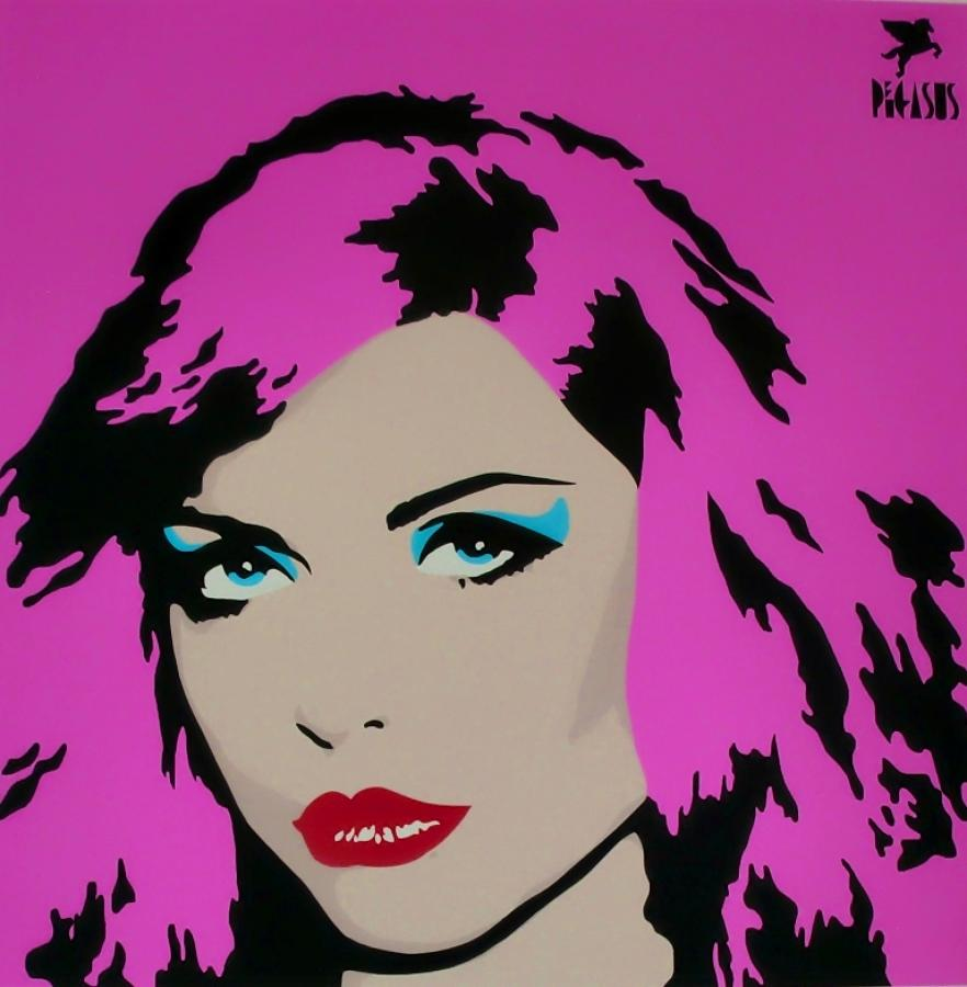 Blondie-Pink art print (Debbie Harry) by street artist Pegasus