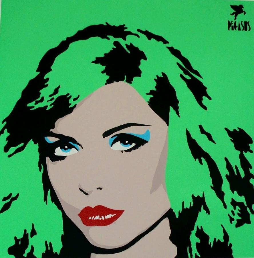 Blondie-Green art print (Debbie Harry) by street artist Pegasus