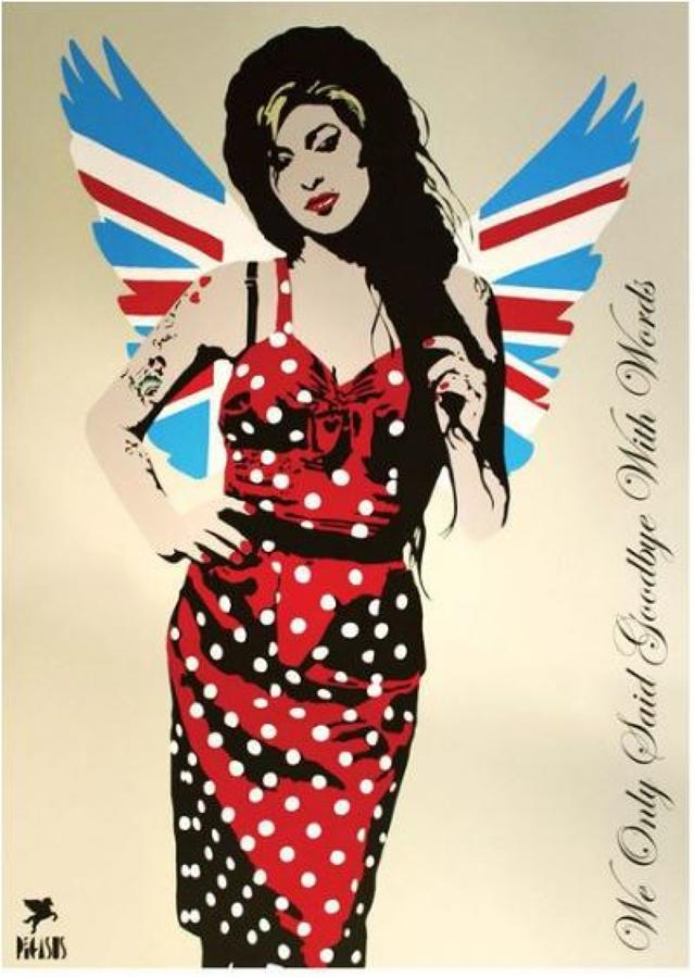 Fallen Angel-Amy Winehouse art print by street artist Pegasus