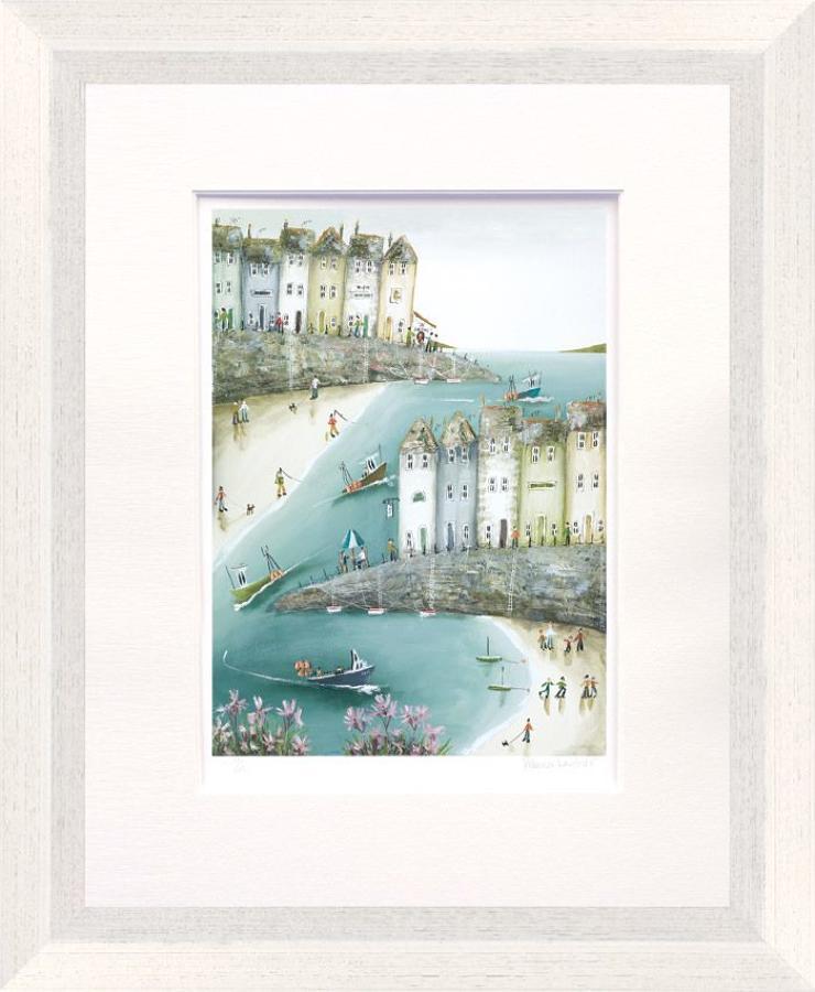 Floral Cove Paper Art Print By Rebecca Lardner