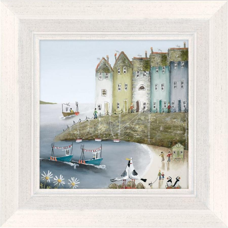 Over the Sea II Framed Canvas Art Print Rebecca Lardner