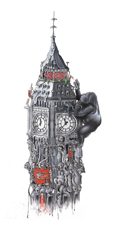 Ben's Big Beast art print by artist Richard Berner