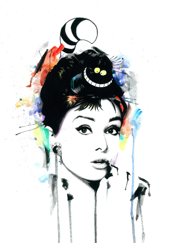 Audrey Dream signed art print by artist Richard Berner