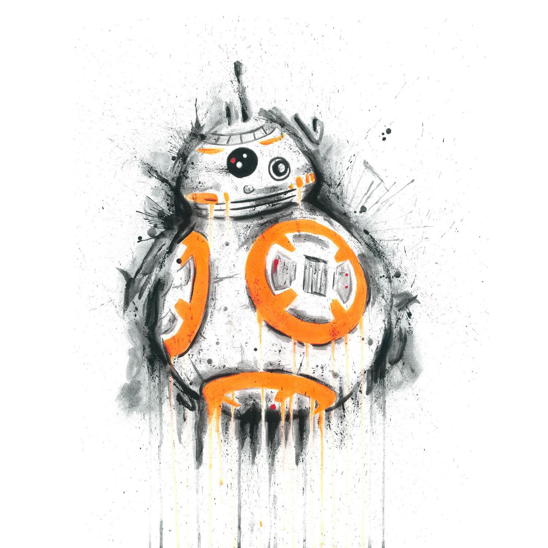 BB8 signed art print by artist Richard Berner