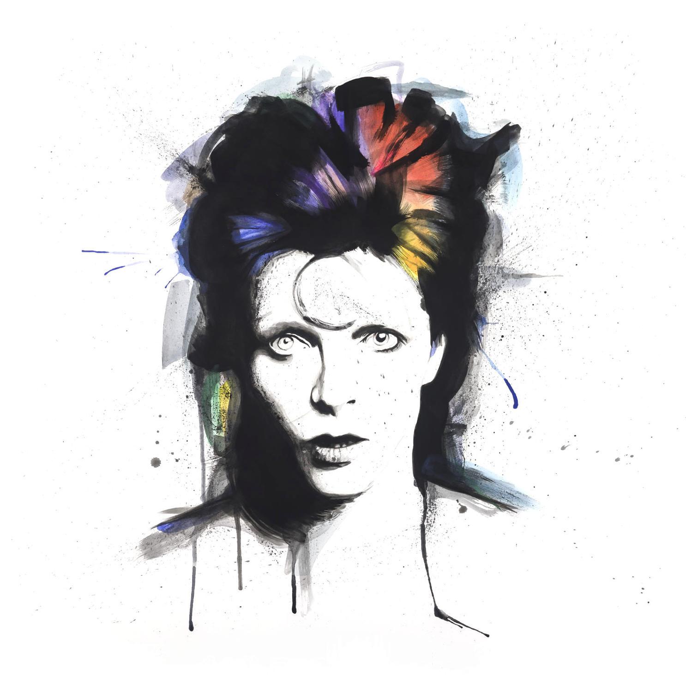 Bowie Art Print By Richard Berner - Large Size