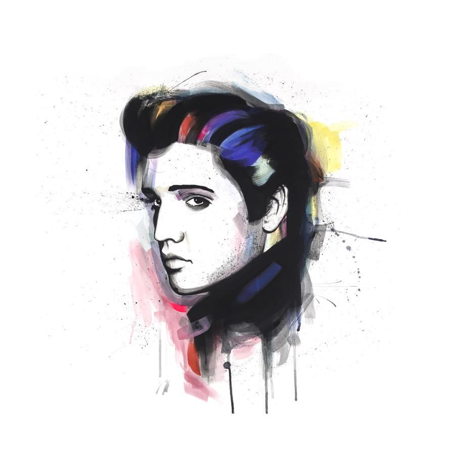 Elvis Art Print by Richard Berner - Large Size