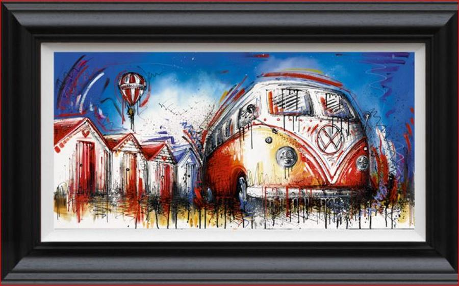 Easy Street Framed Canvas Art Print By Artist Samantha Ellis