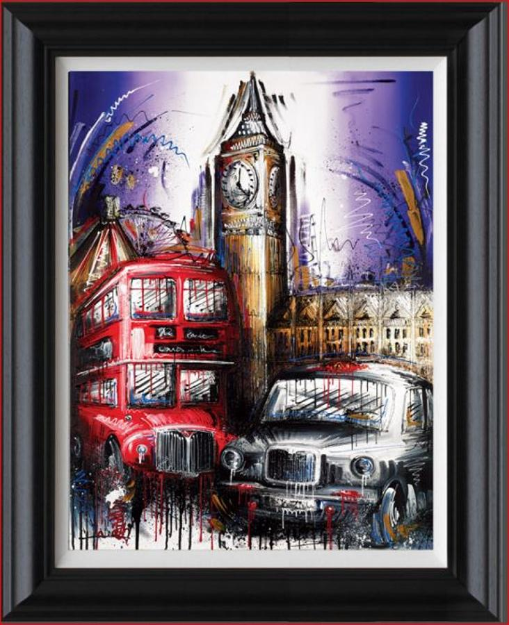 Playing For Time Framed Canvas Art Print By Artist Samantha Ellis