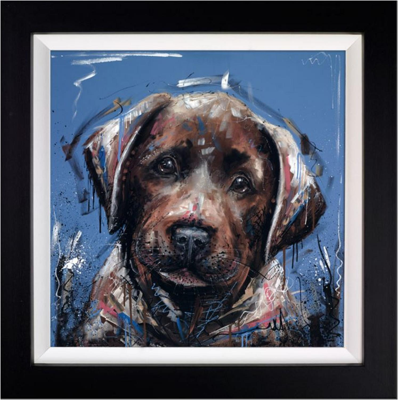 Dirty Dog by Samantha Ellis Framed Art Print
