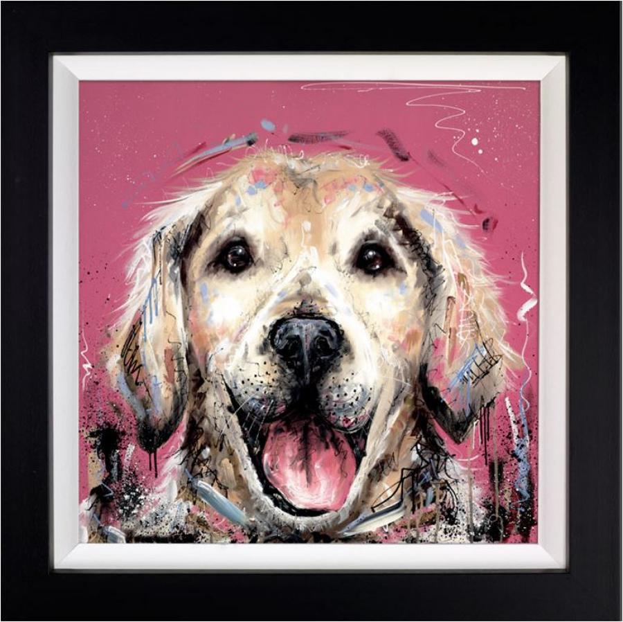 Mucky Pup by Samantha Ellis Framed Art Print