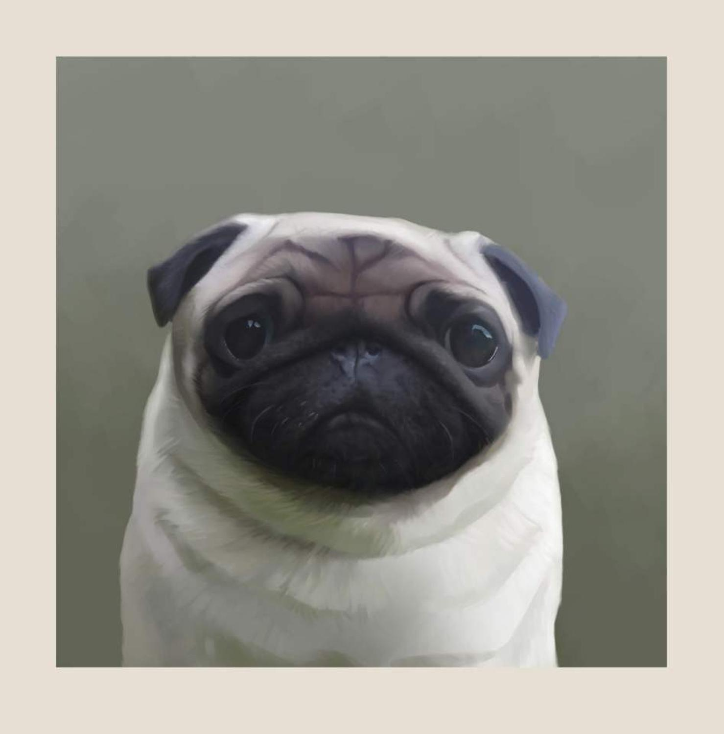 Pugley-Art Print By Stephen Hanson