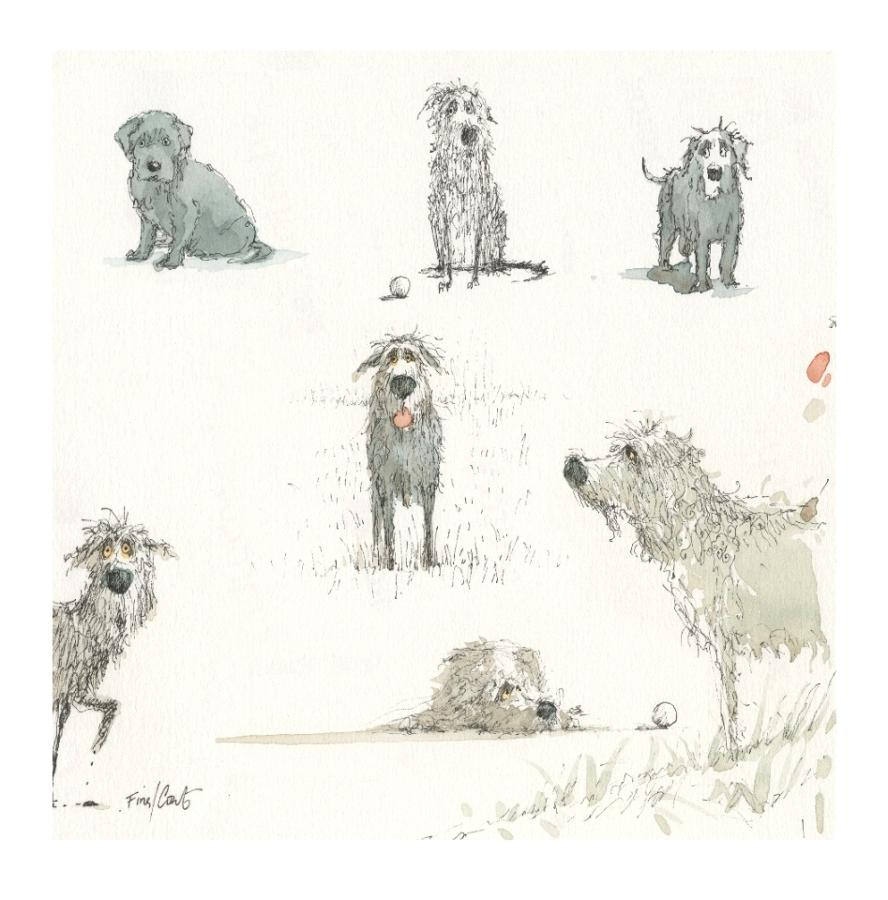 Toby Digging Studies Art Print by Stephen Hanson