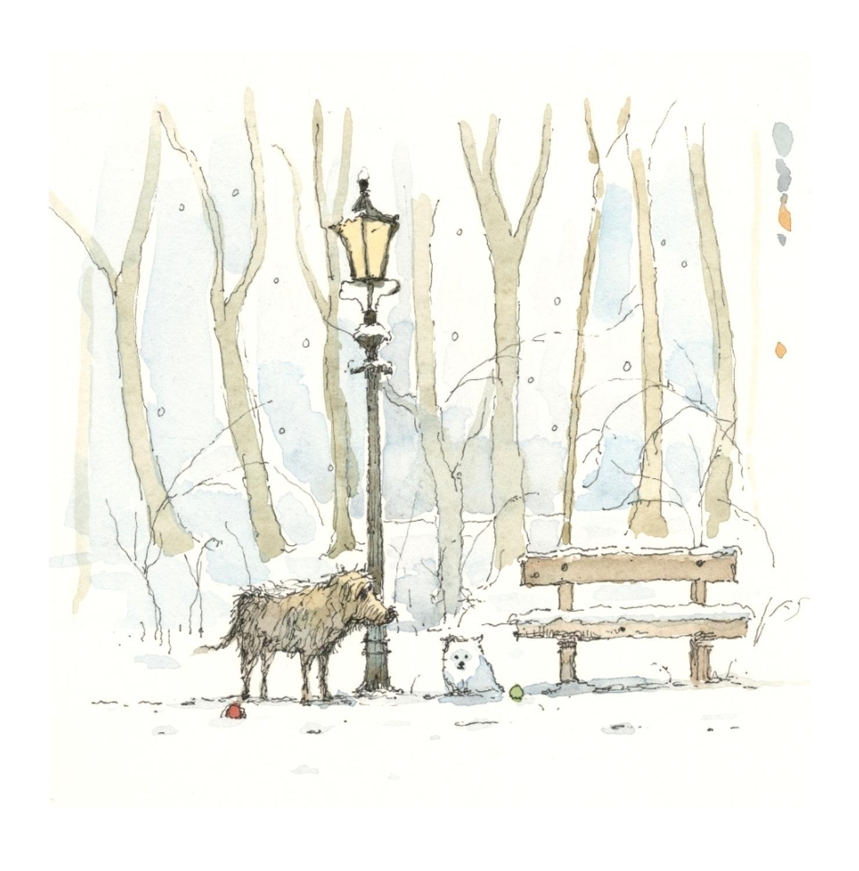 Snow Meeting Art Print by artist Stephen Hanson