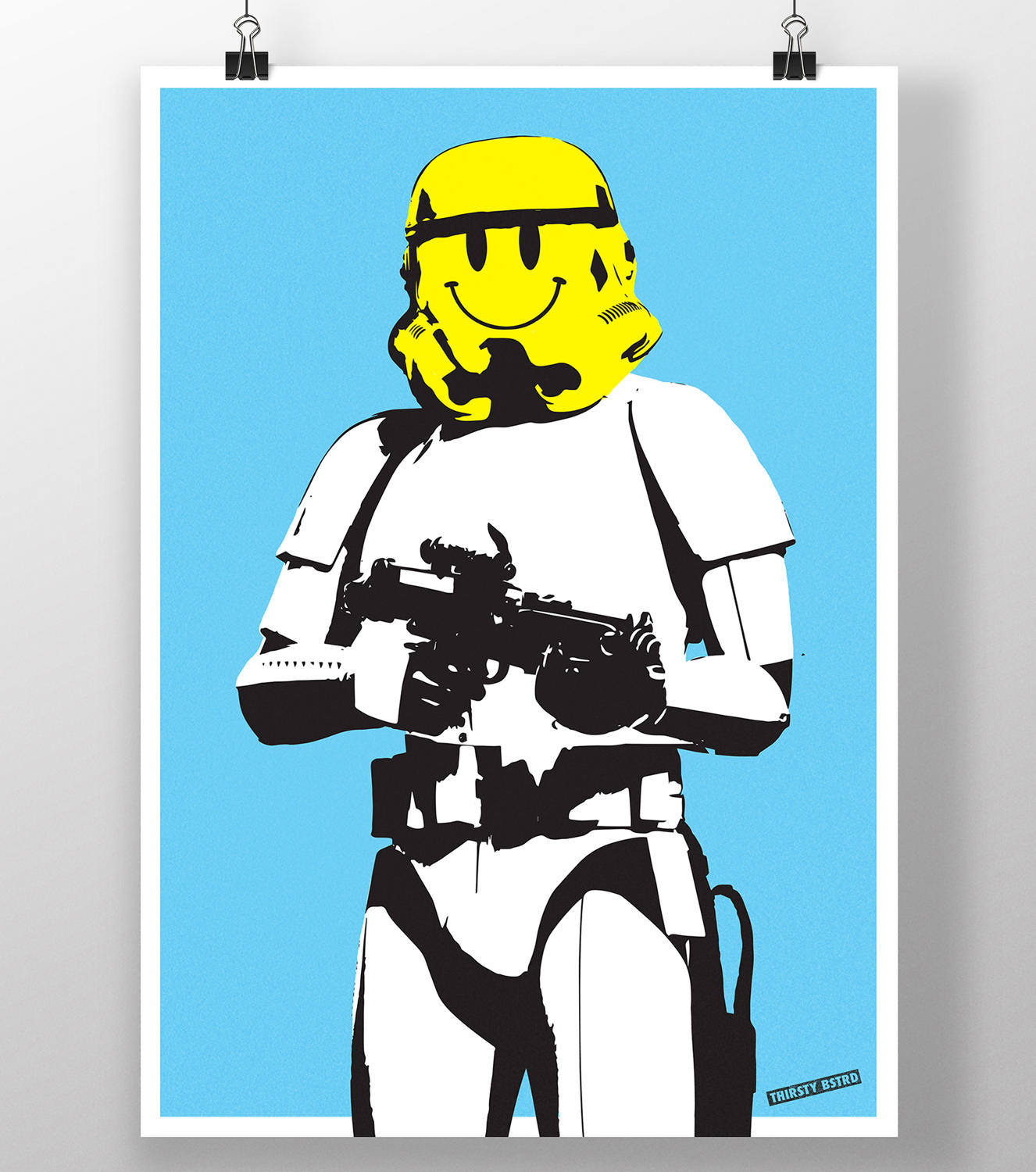 Smiley Storm Trooper Silkscreen by Thirsty Bstrd
