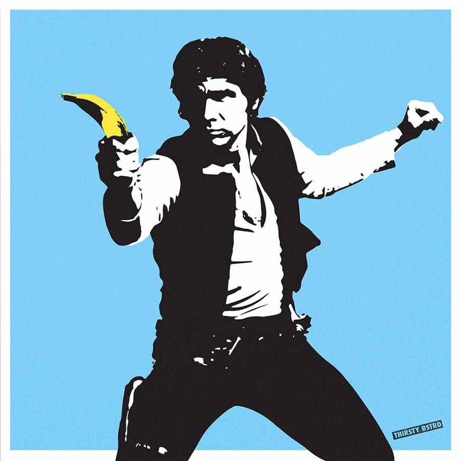 Han Solo Banana Gun art print Thirsty Btrd