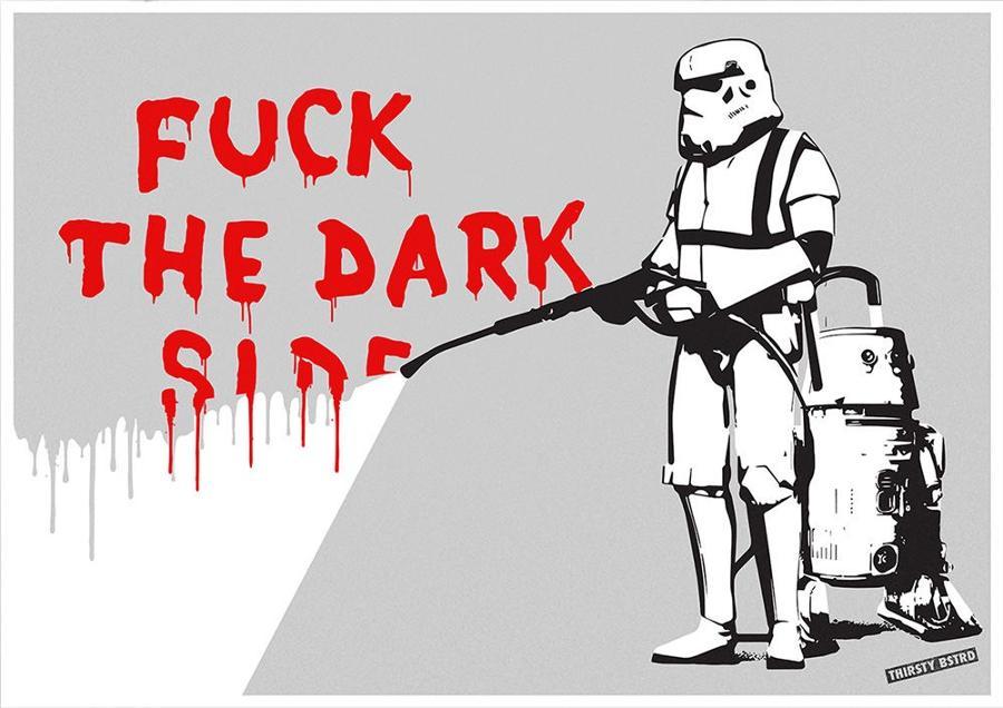 F**k the Dark Side art print Thirsty Bstrd