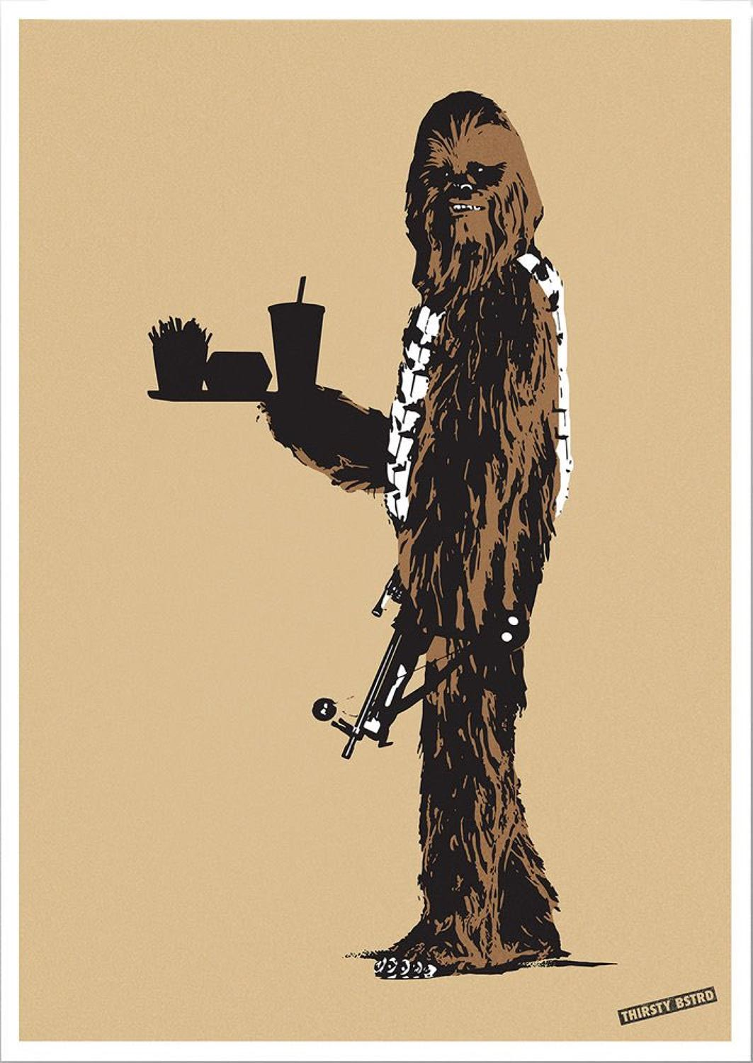 Chewbacca Fast Food Screen Print Thirsty Bstrd