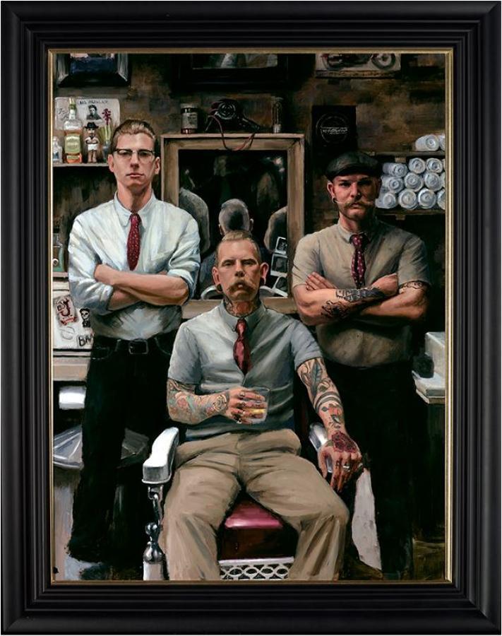 Thy Barber by Vincent Kamp Framed Art Print